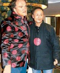 Quentin Tarantino and Gordon Liu