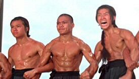 Lo Mang (center) in Shaolin Temple (1976)