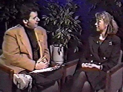 ernie manouse as the interviewer